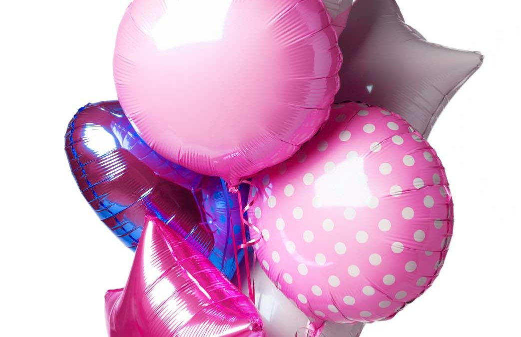 Mylar/Foil Balloons on assorted shapes