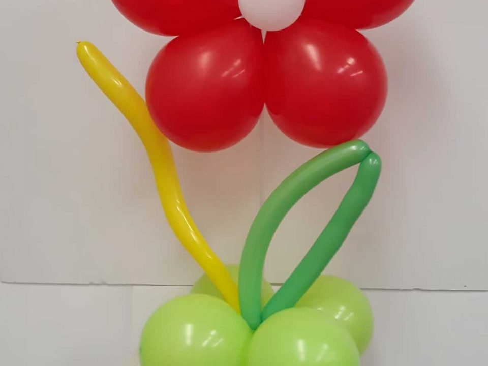 Beautiful Red Flower Balloon Arrangement