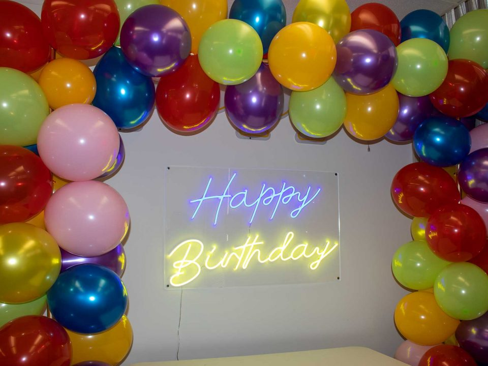 Colorful Birthday Balloon Arch